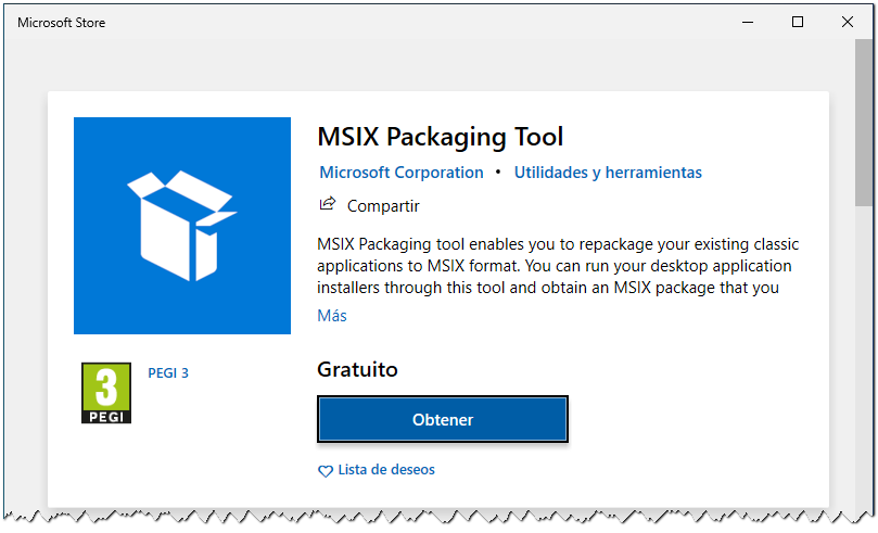 MSIX Packagint Tool